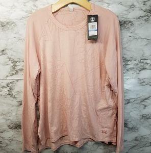 Under Armour Womens Longsleeve Tshirt Pink XL New